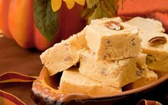 Four ingredient pumpkin fudge