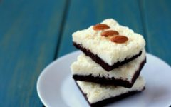 no bake vegan almond joy bars